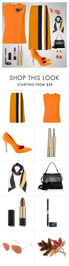 """""""Burnt Orange"""" by chauert ❤ liked on Polyvore featuring Victoria, Victoria Beckham, Casadei, Victoria Beckham and Anne Klein"""