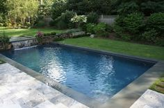 Swimming Pools for Narrow Yards | All American Custom Poolsand Spas Concrete Swimming Pool