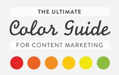 Understanding how color works isn't just for artists. You need to know how to use color in your content marketing in order to get your content noticed. We'll tell you the basics of color theory, color psychology, and how to choose the best color for your audience.