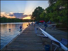 Sunset Row on Town Lake - Texas Rowing Center by dingatx, via Flickr