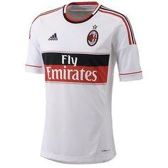 f5d84977a Adidas Official Away AC Milan Football Soccer Jersey Sz L NEW