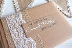 Rustikale Kraft Hochzeit Gästebuch von ThePaperBirdCompany auf Etsy