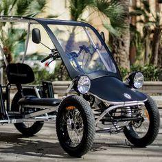 Electric Cargo Bike, Electric Bike Kits, Electric Cars, 4 Wheel Bicycle, Trike Bicycle, Velo Design, Bicycle Design, E Quad, Bike Cart