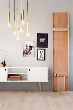 combination: mid-century piece of furniture and a minimalistic wooden one, idustrial details Living Room Inspiration, Interior Inspiration, Scandinavian Style Home, Interior Styling, Interior Design, Design Furniture, Retro Furniture, Home And Deco, Minimalist Home
