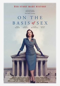 On the Basis of Sex is a movie starring Felicity Jones, Armie Hammer, and Justin Theroux. The true story of Ruth Bader Ginsburg, her struggles for equal rights, and the early cases of a historic career that lead to her nomination. Justin Theroux, Felicity Jones, 2018 Movies, Movies Online, Buy Movies, Movies Free, Ruth Bader Ginsburg, Imitation Game, Classic Hollywood