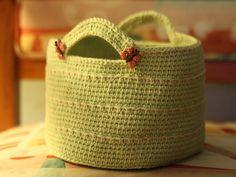 Crochet basket pattern by Chickpea Sewing tudios and Orange Flower ~ free crochet pattern via Ravelry