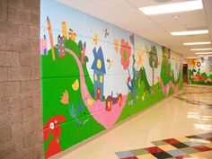 """A walk in the hills"" Wall Murals, Indian Hills Elementary 4-6 grades, 2009"