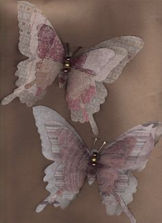 paper butterfly | ... bags they were made using patterned tissue paper and decorative papers