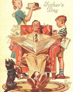 Happy Father's Day! J.C. Leyendecker (1875-1951) #leyendecker #painting #art #fathersday #fathers #jcleyendecker