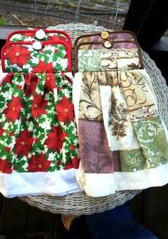 Hanging Kitchen Towels (Sewing Tutorial)... Great Kitchen towel tutorial.... can be made for everyday or to match that special Holiday or theme in the Kitchen !