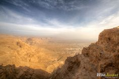 Sunrise Over the Masada Desert Fortress