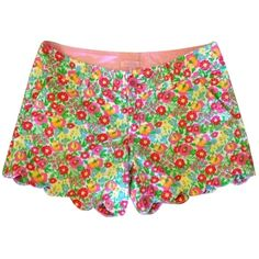 Pre-owned Lilly Pulitzer Buttercup Shorts ($60) ❤ liked on Polyvore featuring shorts, bottoms, pants, lilly pulitzer shorts and lilly pulitzer