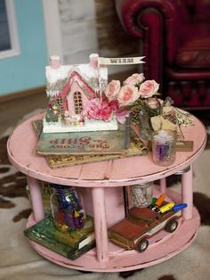 Kids' Craft Station - 25 Ways to Upcycle Your Old Stuff on HGTV - {junk gypsy co. - http://gypsyville.com/ }