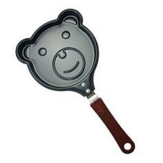 Bear Breakfast Omelette Pan Non-Stick Pancake Pan Molds (no lids) Egg Fryer Skillet Fry Frying Cookware B0