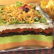 7-Layer Fiesta Party Dip Recipe | Yummly