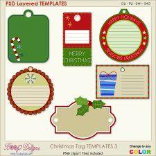 Christmas Tag Layered Templates 3 #CUdigitals cudigitals.comcu commercialdigitalscrapscrapbookgraphics #digiscrap