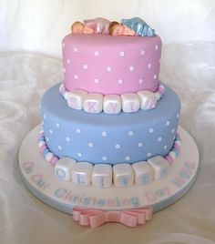 33 Unique Christening Cake Ideas with Images - My Happy Birthday Wishes Baby Shower Cakes, Baby Bump Cakes, Baby Bottom Cake, Baby Christening Cakes, Twins Cake, Bolo Cake, Chocolate Decorations, Cakes For Boys, Occasion Cakes
