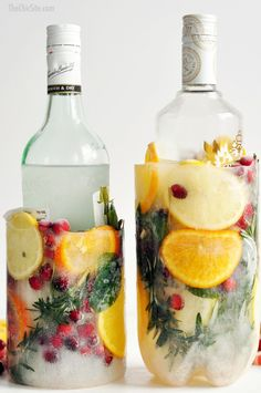 DIY Make Your Own Ice Buckets - beautiful and functional for Thanksgiving