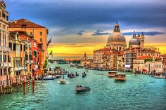 View top-quality stock photos of Italy Venice Grand Canal With View On Santa Maria Della Salute And Boats. Find premium, high-resolution stock photography at Getty Images. Italy Tourism, Italy Travel, Venice Travel, Travel Europe, European Travel, Grand Canal, Cinque Terre, Best Cities In Europe, Most Romantic Places