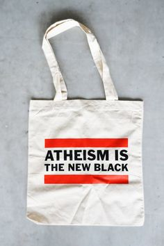 "Tote Bag ""Atheism is the new black"""