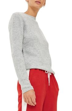 80a830d6249 Free shipping and returns on Topshop Ribbed Crewneck Sweater at  Nordstrom.com. A laid