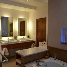 Mirror Backlighting Design, Pictures, Remodel, Decor and Ideas