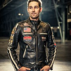 Leather Motorcycle Pants, Men's Leather Jacket, Leather Jackets, Vest Jacket, Motorcycle Jacket, Bomber Jacket, Sportster Cafe Racer, Rugged Look, Jaco