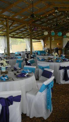 Turquoise Wedding Decor #turquoise #wedding #decoration