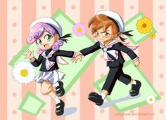 Size: 1299x944 | Tagged: artist:nanyjfreak, blushing, button mash, cardcaptor sakura, clothes, cute, holding hands, humanized, mary janes, safe, sailor uniform, school uniform, shipping, skirt, straight, sweetie belle, sweetiemash