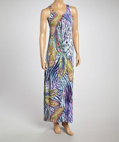 Another great find on #zulily! Purple Peacock Maxi Dress by Just Love #zulilyfinds $12.99, regular 36.00