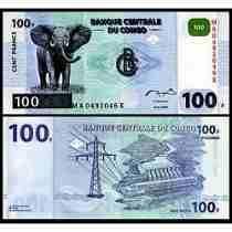 Congo (ex Zaire) 100 Francos 2000 P. 92a Fe (hdmz) Tchequito