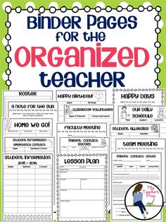 Keep your teacher binder organized