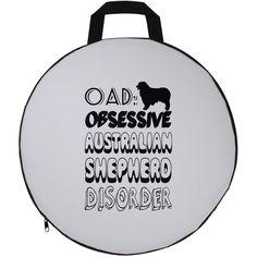 OAD Obsessive Australian Shepherd Disorder Round Seat Cushion