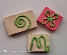 Como hacer un sello con cosas que tenemos por casa - Decora y diviértete
