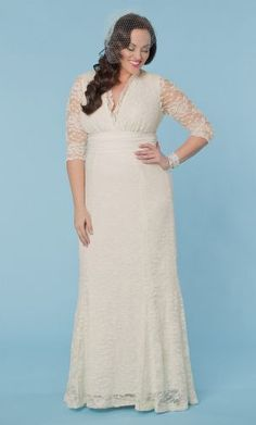 Dress Post of the Day courtesy of @kiyonnaplussize . Dress details on our Facebook Page, http:/www.facebook.com/prettypearbride Purchase here: http://bit.ly/1EKpoMV #weddingdress‬ ‪#‎plussize‬ ‪#‎curvybrides‬ ‪#‎bride‬ ‪#‎prettypearbride‬