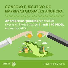 39 empresas globales han decidido #InvertirEnMéxico
