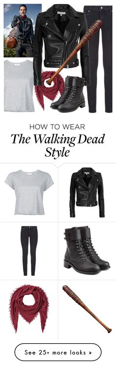 """Negan"" by chey-love on Polyvore featuring RE/DONE, Faliero Sarti, Paige Denim, IRO, Lucille and Philosophy di Lorenzo Serafini"