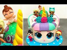 Bolo Barbie, Barbie Cake, Fete Marie, Bolo Panda, Lol Doll Cake, Inside Cake, Funny Birthday Cakes, Fig Cake, Twins Cake