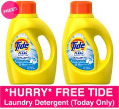 *HOT* FREE Tide Laundry Detergent – Today Only! - http://freebiefresh.com/hot-free-tide-laundry-detergent-today-only/