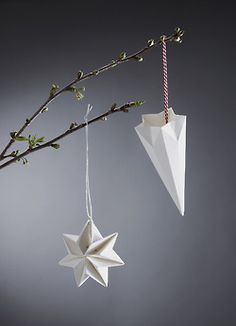 """Pleated Stars"" - brand new hand pleated Christmas decorations designed by Tine Mouritsen, Denmark - for Livingly. #allgoodthings #danish #danishdesign spotted by @missdesignsays"