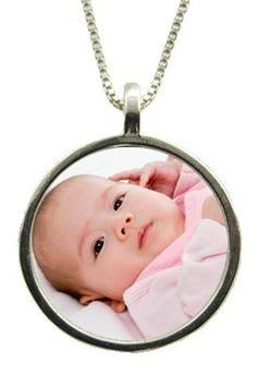 Custom Photo Necklace - Sterling Silver