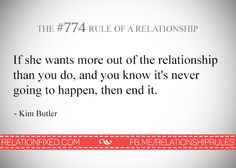 #774 Rule of relationship