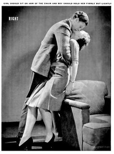 How to Kiss - scanned from Life Magazine circa 1942