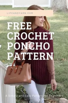 Use this Free Crochet Pattern on the Life and Yarn Blog to make this Easy Pullover Women's Poncho Pattern with a Ribbed Collar! This is a beginner friendly crochet project! Save and Click to get started TODAY! #freecrochetpattern #crochetproject #DIY #FallFashionTrends #Womenscrochetpattern #ribbedcollar Crochet Poncho Patterns, Crochet Shawl, Crochet Stitches, Crochet Projects, Crochet Crafts, Ladies Poncho, Fall Fashion Trends, Photo Tutorial, Free Crochet