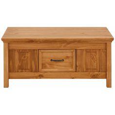 Hnedý konferenčný stolík z masívneho borovicového dreva Støraa Suzie