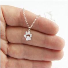 Cute Silver Dog Paw Pendant!