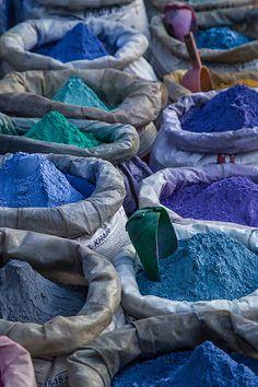 Chefchaouen, Morocco - Blue pigments