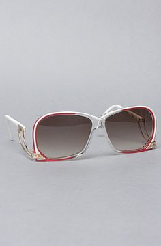 ea808e55d71 Vintage Eyewear The Cazal 174 Sunglasses in Red and Clear