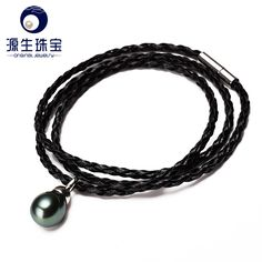Aliexpress.com : Buy YSBTB004 black leather bracelet with a black baroque pearl 10mm natual tahitian pearl necklace and bracelet type from Reliable bracelet sterling suppliers on pearls by yuansheng