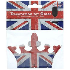 Jubilee - Union jack crown decorations for glasses